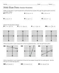 equations of a line worksheet writing equations in slope intercept form math writing equations in slope