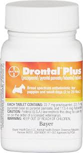 Drontal Feline Dosage Chart Drontal Plus Tablets For Dogs 2 25 Lbs 1 Tablet