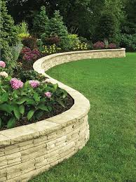 garden ideas with retaining wall in build timber sleepers