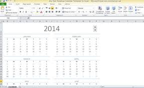 Any Year Perpetual Calendar Template For Excel