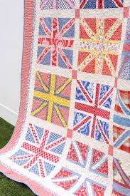 Union Jack Quilt Pattern & I've decided that inspiration for these Union Jacks is a bit of Andy Warhol  meets Cath Kidston. Here are a couple of close-ups of the fabric. Adamdwight.com
