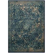safavieh vintage blue yellow 4 ft x 6 ft area rug