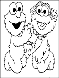 Small Picture Coloring Pages Sesame Street Elmo Going To School Coloring Page