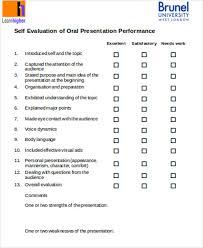 Evaluation Chart Sample Presentation Evaluation Forms Templates Sada