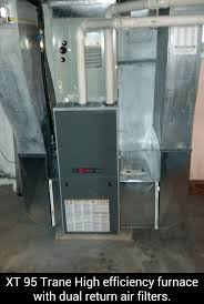 trane high efficiency furnace. xt 95 trane high efficiency furnace with dual return air filters