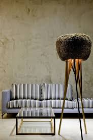 Architects Designers Cozy Floor Lamp Design Next To The Striped