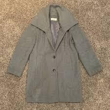 details about calvin klein women s wool pea coat grey size 14