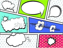 ic book strip with sch bubbles template script pdf ic book page template layout photo