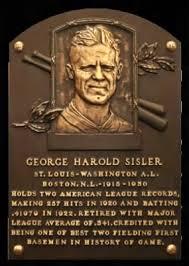 「George Harold Sisler record」の画像検索結果