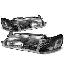 97 Toyota Camry Brake Light 93 97 Toyota Corolla Oe Style Replacement Headlights Black
