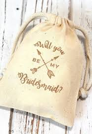 Party Proposal Fascinating Will You Be My Bridesmaid Wedding Party Proposal Favor Bags Etsy