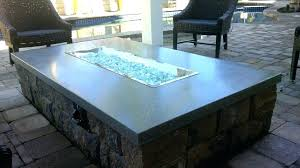 propane fire pit table glass