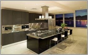 charming stainless steel kitchen island with seating and counter depth side  by side refrigerator in stainless