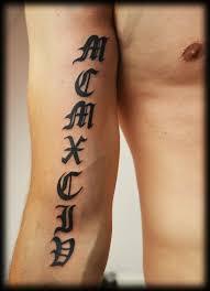 Tetování Datum římský Tetování Tattoo
