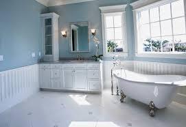 bathroom with wainscoting. Overlay Panel Bathroom Wainscoting With