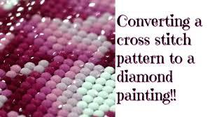Converting a <b>cross</b> stitch pattern to a <b>diamond painting</b>!!! - YouTube