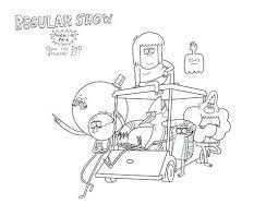 Regular Show Coloring Pages Giveaway Regular Show Pack And Pack