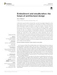 Neuro Embodied Design Pdf Embodiment And Enculturation The Future Of