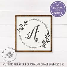 Cricut Name Designs Last Name Sign Svg In This House We Do Family Svg