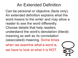 writing an extended definition  6 an extended definition