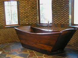 more ship shaped than the other wooden bathtubs we found the european style