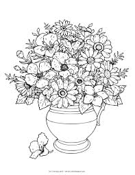 Coloring Pages Of Flowers In A