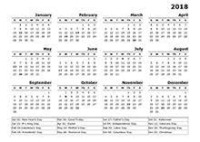 Year Calendar 2018 Tempss Co Lab Co