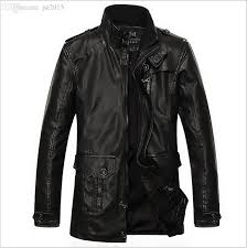 2018 fall mens leather biker jacket motorcycle vintage leather jacket hot fashion men motorcycle long leather suede jackets china from jst2016