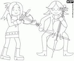 Kleurplaat Muzikanten En Snaarinstrumenten Kleurplaten