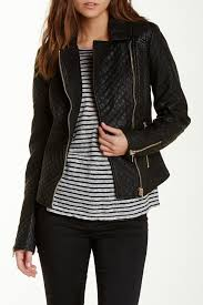 image of love token quilted faux leather jacket