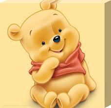 baby pooh baby pooh winnie the pooh canvas 25cm x 25cm