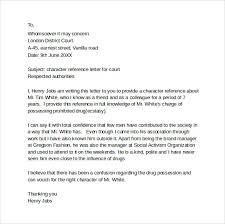 Character Reference Letter Template For Court Sample Character ...