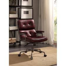 leather office. Demarcus Genuine Leather Office Chair V