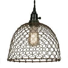 vintage farmhouse lighting. Chicken Wire Light, Lighting Save · Industrial Vintage Light Farmhouse