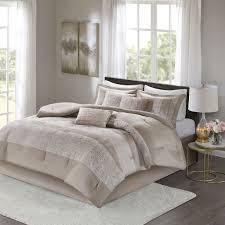 Ava King 7 Piece Chenille Jacquard Comforter Set - Madison Park MP10-6033
