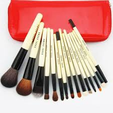 branded 15 pcs high end beauty needs makeup brush set with goat hair