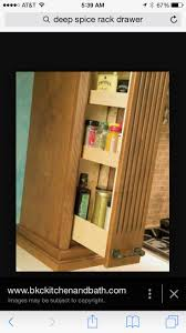 another handy storage solution for your kitchen - a pull-out spice rack