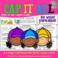 Capital Letter Anchor Chart Capital Letters Capitalization Rules Anchor Charts