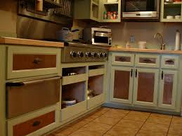 Best Brown Vintage Kitchen Cabinets Design with Ceramic Floor