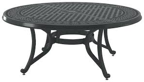 brown round cocktail table outdoor concrete tables