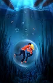 percy jackson images underwater kiss hd wallpaper and background photos