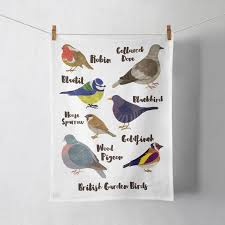 british garden birds tea towel lauren radley british garden birds tea towel