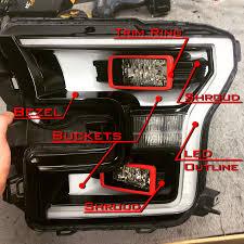 2015 2017 f150 raptor retrofit oem led replacement headlights rapr 2000 f250 headlight switch wiring diagram at Ford F 150 Headlight Wiring Diagram
