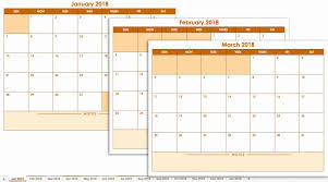 Yearly Calendar Excel Template 2018 2018 Calendar Template Excel ...