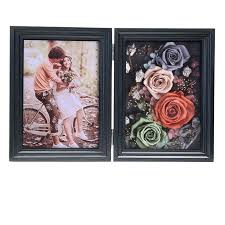 European <b>Photo Frame</b> Wooden MDF Seven Inch Eternal <b>Flower</b> ...