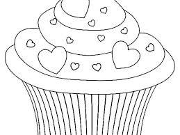 Coloriage De Cupcake Kawaii Cupcake Valentijn Kleurplaat Color
