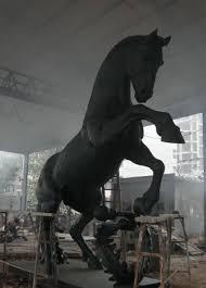 affordable custom bronze horse statue 5m work in progress for overseas customer