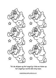 Kleurplaat Kerstengel Spelletjes