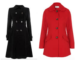 wallis black double ted coat 36 00 from house of fraser reduced from 70 women s red dolly coat 21 00 from pea