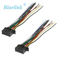 2pcs car stereo harness wire adapter wiring connector cable for